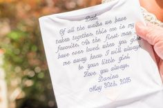 Father of the Bride gift idea - embroidered handkerchief {Priscilla Thomas Photography}