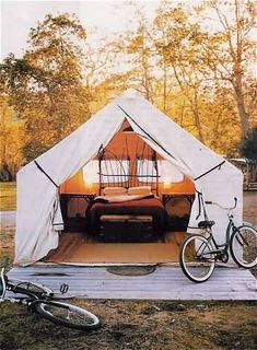 I want to go camping...