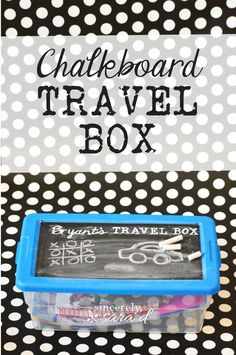 Create a travel box for around $5!