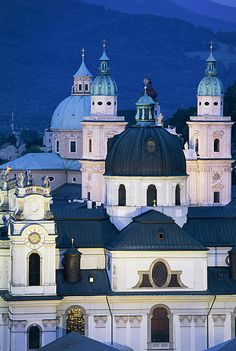 <h3> Tour the city's churches </h3> The majority of Salzburg's churches are free to enter, including the blue-domed cathedral, Franziskanerkirch, one of the city's oldest, and the Baroque Kollegienkirche, with its unique convex façade. If all this piety is too much to handle, do some window-shopping on the pedestrianised Getreidgasse, home to the city's swankiest boutiques.