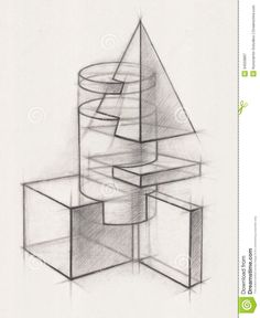 Pix For > Geometric Shape Drawing