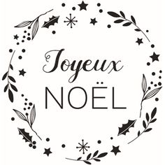 Tampon en bois 2,8x6 cm - Joyeux Noël couronne