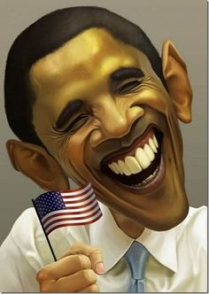 It's the man, Obama Yah!!!     BULL ! Big Fake ! He's smiling because he's getting away with the Murder of our country !