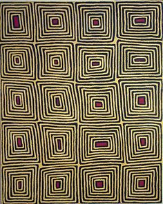 Ronnie Tjampitjinpa, Australian aboriginal art Yeah this is almost the log cabin pattern also. Hmmm. The universality of art.