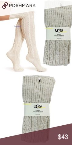 6a5f65deb43 UGG Cable Knit Over The Knee Socks Thigh High Boot New in package