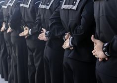 File:US Navy Sailors assigned to Naval Medical Center San Diego stand at parade rest during a command uniform inspection. Go Navy, Navy Mom, Havana, Parade Rest, Us Sailors, Navy Girlfriend, Navy Life, Navy Military, Men In Uniform