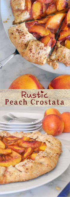 Homemade rustic crostata with sweet and juicy nectarines, a touch of cinnamon, over a buttery and flaky crust. Perfect dessert for the summer!