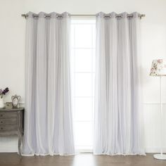 Anabelle Thermal Blackout Energy Efficient Grommet Curtain Panel Pair