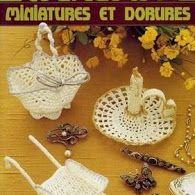 crochet - miniatures et dorures - 闽女爱越 - Picasa Web Albums Crochet Bowl, Crochet Chart, Knit Crochet, Crochet Decoration, Crochet Home Decor, Vintage Crochet Patterns, Crochet Ideas, Knitting Books, Crochet Magazine