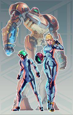 Metroid + Pacific Rim (FSRX 12) by ZedEdge on DeviantArt