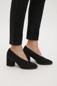 COS image 5 of Chunky heel pumps in Black