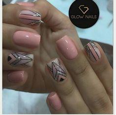 Glow, Nail Art, Nails, Instagram, Beauty, Finger Nails, Mariana, Templates, Short Nail Manicure