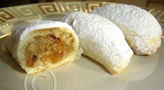 Greek Food Recipes and Reflections, Toronto, Ontario, Canada Greek Sweets, Greek Desserts, Greek Recipes, Greek Cookies, Filled Cookies, Stuffed Cookies, Pavlova, Chefs, Cyprus Food