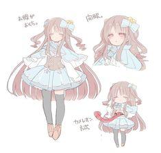 なななのか❣⃛ (@nanoka923) | Twitter Anime Child, Anime Art Girl, Kawaii Drawings, Cute Drawings, Kawaii Art, Kawaii Anime, Cute Characters, Anime Characters, Poses Anime