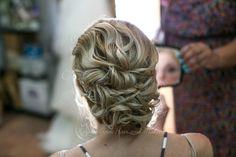 Wedding Hair: www.krystieann.com  Photo: Katya Nova Photography   Bridal hair, updo, Jellyfish Restaurant, Punta Cana Wedding wedding updo, bridesmaid hair, updo, beach updo
