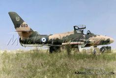 EBA - RHAF.  Republic RF-84F Thunderflash. 110 CW,     Larissa AFB Greece  by Markos Danezis