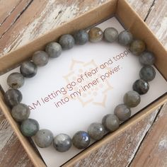 Labradorite supports wearers through change, imparting strength & perseverance. A great holiday gift of yoga jewelry for a woman who loves meditation and yoga. Give the gift of gemstone bracelets with our Take a Risk Bracelet. Healing Bracelets, Gemstone Bracelets, Gemstone Jewelry, Cuff Bracelets, Bracelet Making, Jewelry Making, Expensive Jewelry, Bijoux Diy, Jewelry Trends