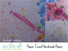 Yep! Handmade paper made from paper towels and construction paper. Now that's easy! Paper Towel Handmade Paper by EcoHeidi Borchers featured on Cool2Craft TV - http://cool2craft.com