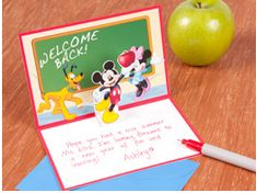 Lots of Disney Back To School Crafts including printable lunch notes. My kids would love to have one of these in their lunchbox on the first day of school!