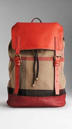 Check Canvas Backpack | Burberry