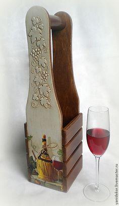 Купить Короб для вина декупаж Красное Вино в интернет магазине на Ярмарке Мастеров