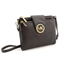 cbe92c8ce0 Michael Kors Women s Fulton Leather Crossbody Handbag Large Crossbody Bags