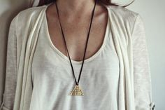 Triangle Grid necklace