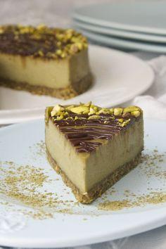 Pistachio Matcha Cheesecake - raw, vegan, gluten free
