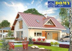 #projekt #dom Jagoda 2 NF40, MTM Styl Jednorodzinny budynek mieszkalny, parterowy z użytkowym poddaszem, przeznaczony dla 4 - 5-osobowej rodziny.