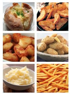 Potatoes! ...baked potato, potato skins, hash browns, fries, chips, sliced potatoes... whoever invented potatoes was a genius.