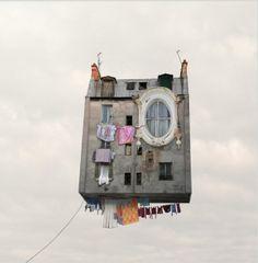flying house.