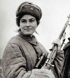 Soviet sniper Lyudmila Pavlichenko, 1942. Regarded as the most successful female sniper in history, Pavlichenko racked up 309 kills during WWII, including 38 snipers.