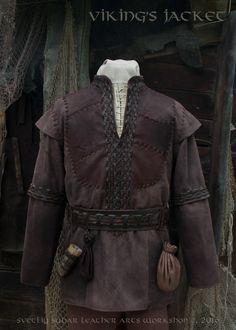 Viking Leather Jacket (inspired Ragnar Lothbrok) / L size / LARP equipment / style fantasy  by SvetliySudarWorkshop on Etsy https://www.etsy.com/listing/386692470/viking-leather-jacket-inspired-ragnar