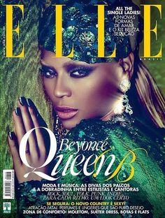 Beyoncé On Cover Of Elle  Brazil Edition June 2014