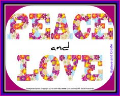Spread some PEACE and LOVE today!   #love #peace #believeandcreate