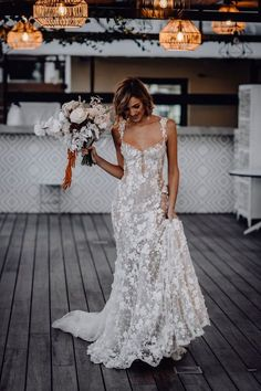 The Perfect Wedding Dress For Every Month Of The Year. 2020 brides, this one's for you. We've scoured our collections to bring you the best wedding dress for every according to the month you're getting married in. Boho Wedding Dress With Sleeves, Top Wedding Dresses, Wedding Dress Trends, Bridal Dresses, Lace Dresses, Sheath Lace Wedding Dress, Vintage Bride Dress, Alternative Wedding Dresses, Marie's Wedding