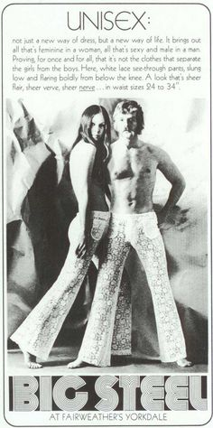 Fashion Ads From The 1970s... LOL, I remember when my parents dressed like Sonny & Cher... and I'm just so glad we got OVER it ;)