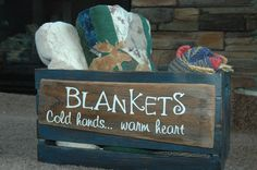 Crate Blanket Box for next to the fireplace.