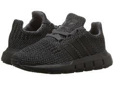 e3ee4ff8b37 adidas Originals Kids Swift Run (Toddler) Boys Shoes Grey Black Black Baby