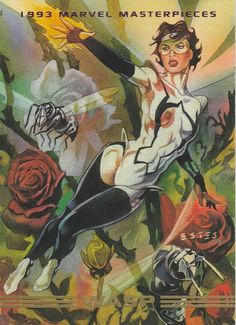Trading cards from comic books, including Marvel, DC Comics, Image and more. Comic Book Girl, Comic Book Heroes, Comic Books Art, Comic Art, Book Art, Marvel Universe, Janet Van Dyne, Tales To Astonish, Marvel Cards