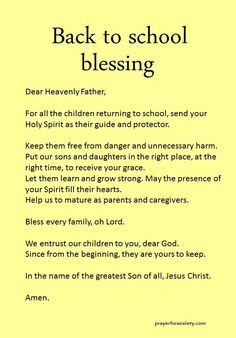 Back to school blessing School prayer – Back to school blessing Faith Prayer, My Prayer, Prayer Ideas, Prayer List, Prayer Room, Bible Quotes, Bible Verses, Scriptures, Biblical Quotes
