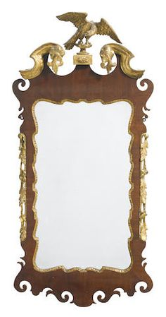 A George III parcel gilt mahogany mirror third quarter 18th century