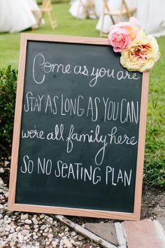 This is a great way to say dont pick a side or sit where you want fir dinner! | A Charleston Wedding by Carolina Photosmith | The Lovely Find