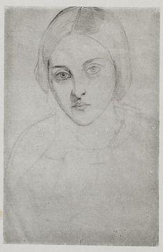Christina Rossetti by Dante Gabriel Rossetti, c.1847