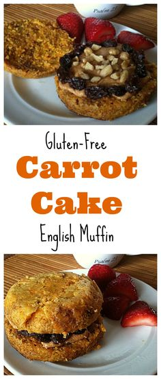 Need a quick and healthy breakfast before you run out the door? Then make this #glutenfree Carrot Cake English Muffin for the perfect breakfast! #healthy #vegan