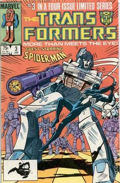 """""""Prisoner of War!"""" Part 3 of 4. Guest-starring the Amazing Spider-Man. Nick Fury cameo. Story by Jim Salicrup. Art by Frank Springer, Kim DeMulder and Mike Esposito. The Decepticons have taken control of a nuclear power plant. Now, with the world watching, the Autobots must stop their malevolent counterparts before it's too late. At least they'll get a little help from everyone's favorite Friendly Neighborhood Spider-Man."""