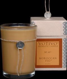 Votivo Moroccan Fig® Candle. I love this scent!