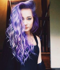 gorgeous lilac purple hair