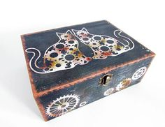 Cat Watch, Watch Box, Steampunk Watch, Jewelry Box, Unique Jewelry, Decorative Boxes, Trending Outfits, Handmade Gifts, Etsy