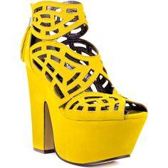 Michael Antonio Studio Gallista - Yellow found on Polyvore